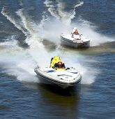 stock photo of outboard engine  - boat race - JPG