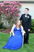 Prom Couple Informal Outdoors