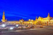 Spain Square (plaza De Espana)is A Square In The Maria Luisa Par poster