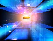 Tecnologia virtual de fundo vector. 10 EPS.
