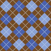 Brown And Blue Argyle
