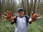 Boy In Woods
