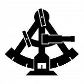 Vector sextant silhouette