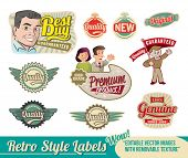 Vintage Retro Labels - editable vector images