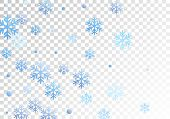 Crystal Snowflake And Circle Shapes Vector Backdrop. Unusual Winter Snow Confetti Scatter Card Backg poster