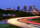 BIRMINGHAM, ALABAMA - APRIL 26: I-65 and downtown April 26, 2012 in Birmingham, AL. With a metro pop