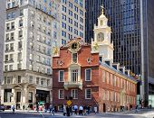 BOSTON - APRIL 4: Old State House April 4, 2012 in Boston, MA. Built in 1713, it is the oldest survi