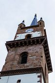 The Tower Of The Evangelical Church In Bistrita, With A Height Of 75 M, Is The Highest Medieval Towe poster
