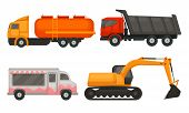 Special Agricultural Machinery Vector Illustrated Isolated Set poster