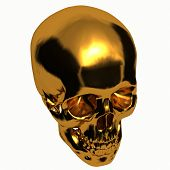 Golden Skulls - 3d skull - Get rich - Gold