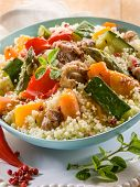 cous cous with meat  and vegetables