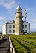 Beautiful Lighthouse In Asturias In Northern Spain Bay Of Biscay
