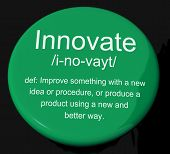 Innovate Definition Button Showing Creative Development And Ingenuity