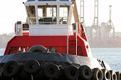 Red And White Tugboat