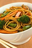 Vegetables and Wholewheat Spaghetti