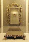 Royal Mirror With Gold Frame In Luxury Interior