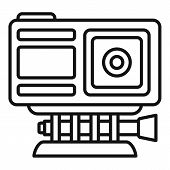 Adventure Action Camera Icon. Outline Adventure Action Camera Vector Icon For Web Design Isolated On poster