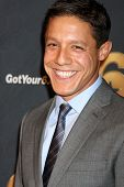 LOS ANGELES - MAY 10:  Theo Rossi arrives at the Launch of Got Your 6  at SAG / AFTRA Headquarters