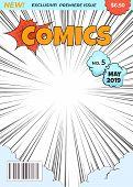 Comics Magazine Cover. Comic Book Superhero Title Page Illustration. Cartoon Image Pop Art Halftone  poster