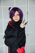 Girl Cosplayer With Purple Hair Anime Japan poster