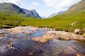 Stream At Glencoe In Scotland