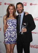 LAS VEGAS - APR 26:  LESLIE MANN & JUDD APATOW arrives afor the Cinema Con 2012-Final Night Awards