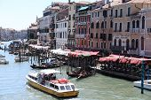 Venice, Italy - June 13, 2019: Picturesque View Of Grand Canal. Grand Canal Is Most Famous Channel I poster