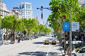 Passeig De Gracia - One  From Major Avenues In Barcelona