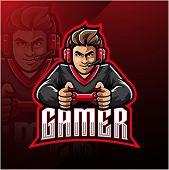 Gamer Esport Mascot Logo Design With Text poster