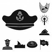 Isolated Object Of Journey And Seafaring Icon. Collection Of Journey And Adventure Stock Symbol For  poster