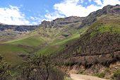 A beautiful andes mountain landscape in Peru