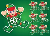 Santa's Elf vector discount stickers