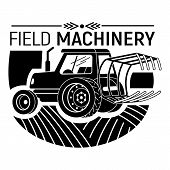 Field Machinery Logo. Simple Illustration Of Field Machinery Vector Logo For Web Design Isolated On  poster