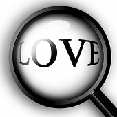image of soulmate  - close up on love love seen through a magnifier - JPG
