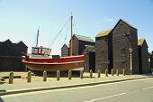 Fishermens Huts In Hastings