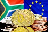 Concept For Investors In Cryptocurrency And Blockchain Technology In The South Africa And European U poster