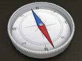 Kompass auf dunklem Hintergrund 3d Objekt-Serie