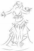a woman dancing belly dance