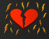 Broken heart and lightnings