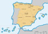 Comunidades autónomas de Espanha mapa