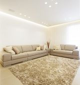 stock photo of home addition  - Luxury Modern Living Room This Picture Is A Merge Of Three Different Images - JPG
