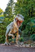 VYSKOV/CZECH REPUBLIC - AUGUST 19 - Realistic model of hungry big Tyranosaurus Rex, August 19,  2012