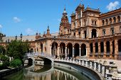 Plaza de Espana, Seville, Andalusia, Spain.