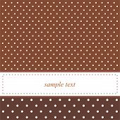 Brown vector background with polka dots - vintage card or invitation.
