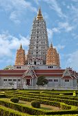 Vietnamese Style Temple In Thailand. Temple Complex Wat Yan poster
