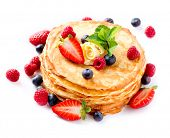 stock photo of crepes  - Pancakes - JPG