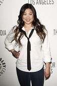 BEVERLY HILLS - MAR 16:  Jenna Ushkowitz arriving at the 2011 PaleyFest honoring 'Glee' held at the