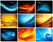 Big set of business elegant colorful abstract backgrounds. Vector illustration