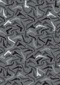 Handgun Silhouettes Background in vectors