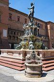 Fountain of Neptune. Bologna. Emilia Romagna. Italy.